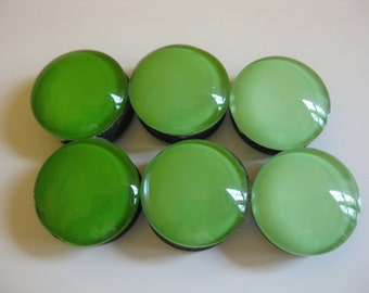 Green Ombre Magnets (set of 6)