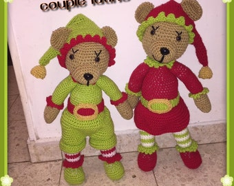 The goblins couple Teddy bear TUTORIAL