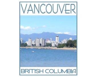 Vancouver B.C. - Love This Place Cityscape - Art Print on Paper - Home Decor Tourism Gift Photo TheJitterbugShop