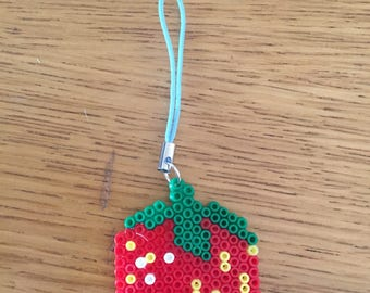 Strawberry zipper/bag charm