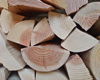Decorative Logs, Split Rustic Style, to stack and display in empty alcoves or fireplaces.