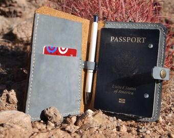 Porter / Passport Holder / Travel Wallet / Passport Organizer / Travel Organizer / Handmade Passport Holder