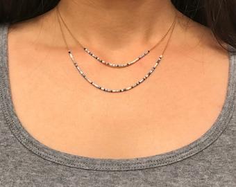 Miyuki delica bead necklace multilayer bead necklace