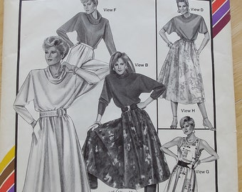 Vintage Stretch and Sew 1578, The Traveler Sewing Pattern, 1980s Knit Dress, Sleeveless Short Sleeve Long Sleeve,  ALL SIZES, UNCUT