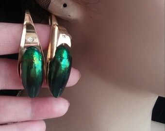 18k Gold Diamond Earrings Executive Exceptional One Of A Kind 20 Grams