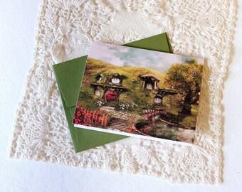 The Shire Greeting Card // Print of Original Fantasy Illustration