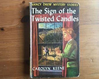 Vintage Nancy Drew: The Sign of the Twisted Candles — 1950 edition