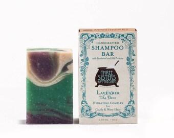 Lavender & Tea Tree Shampoo Bar - 1.75 oz. - Hydration Formula for Curly/Wavy Hair