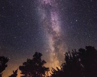 Milky Way, Stars, Night Sky, Constellations, Galaxy, Cosmos, Madeline Island, North Shore, Wisconsin - Travel Photography, Print, Wall Art