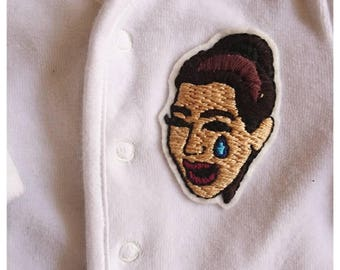 Kim Kardashian cry face patch