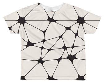 Funky Kids Shirt, Black White Shirt, Geometric Kids Shirt, Bohemian Kids Shirt, Unique Kids Gift, Boys T-shirt, Modern Kids Clothing