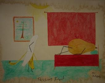 Passion Fruit (original watercolor)