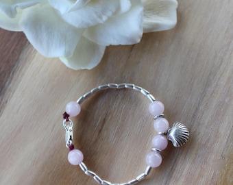 Sweet Love Bracelet - Karen Hill Tribe Silver - Rose Quartz
