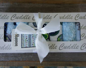 Kit - Wee Ones Blue Strip Minky Quilt - By Shannon Fabrics - Minky Baby Blanket Kit