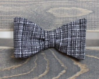 Black and White Bow Tie - Mens Bow Tie- Self Tie Bow Tie