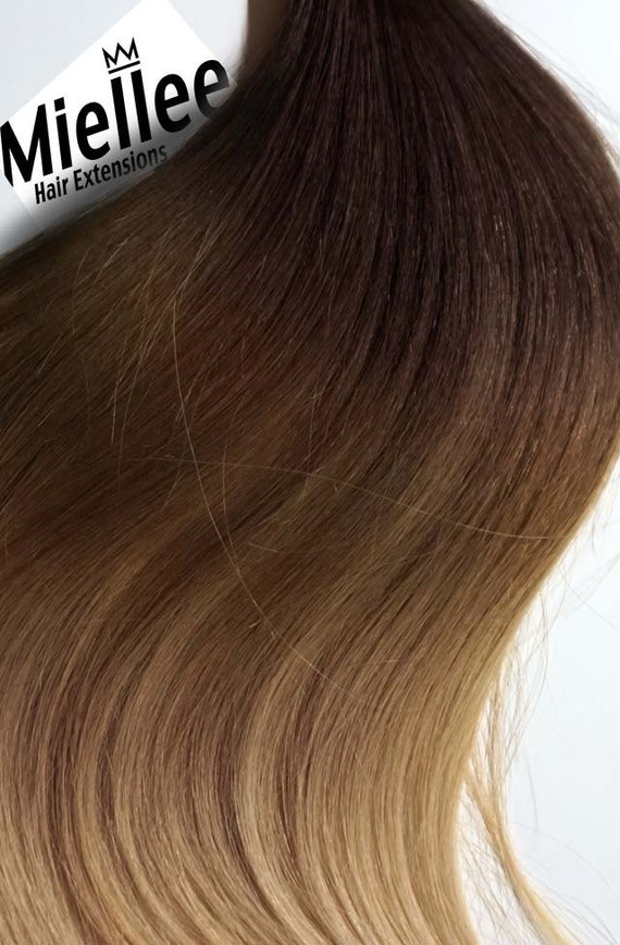 Light Golden Brown Balayage Weave Hair Extensions Silky