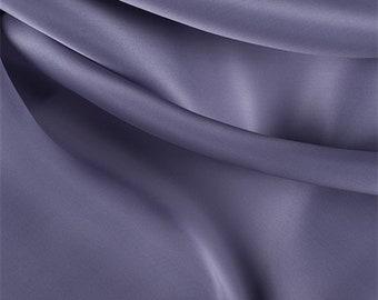 Amethyst Silk Satin Organza, Fabric By The Yard