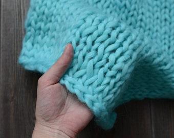 newborn baby blanket, photo prop blanket, wool baby blanket, basket stuffer, newborn photo prop