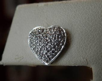 Handmade OOAK Heart Diamond Earrings (FREE Resizing Available)