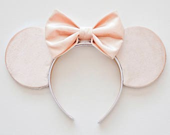 Spring Minnie Ears / Velvet Mickey Ears / Minnie Mouse / Disney Ears / Minnie Ears Headband / Mouse Ears / Mickey Ears / Disney Gift for her