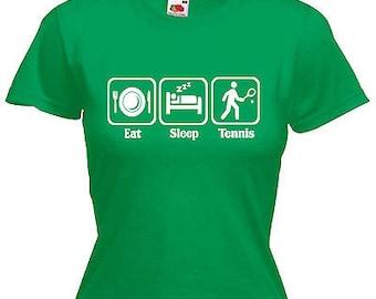 Tennis ladies lady fit t shirt 13 colours size 6 - 16
