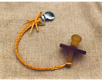 Leather (faux) Pacifier Clips