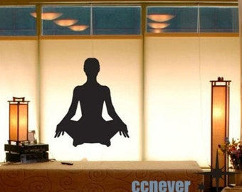 Yoga Poses Silhouette Girl----art Graphic Vinyl wall decals stickers home decor
