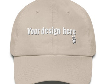 Cotton Cap The perfect gift for you- Personalized Hat - Add your own text - Custom Cotton Cap- Customized Cotton Cap