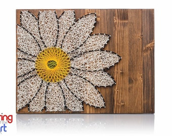 Daisy String Art Kit -Crafts for Adults, DIY Kit, Crafts Kit, String Art, Daisy Lover, Daisy Decor, Mother's Day Gift, Gift for Mom