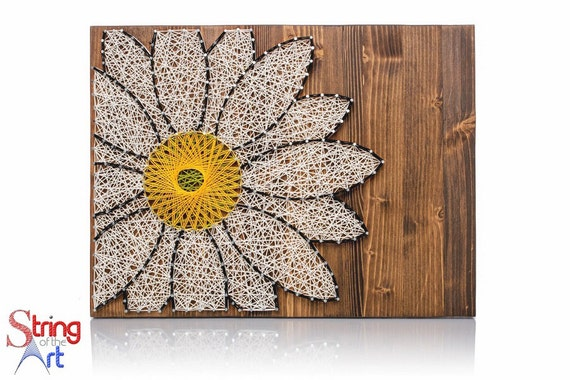 Daisy string art kit crafts for adults diy kit crafts kit for Art and craft ideas for adults at home