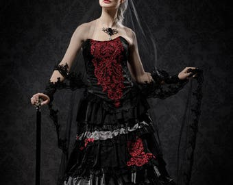 Exceptional black wedding gown
