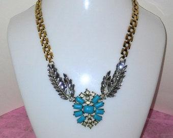 Crystal Turquoise Necklace- Faith