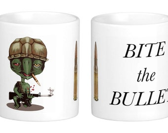 Bite the Bullet Coffee Cup