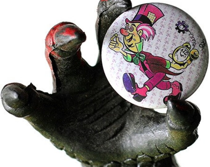 Mad Hatter Blotter 1 inch Button