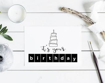 10 Pack It's Your Birthday Greeting Cards