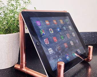 Ipad stand/hard back cookery book holder, copper