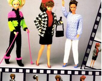 Crochet Pattern Leaflet -  Fashion Doll Mix & Match Winter Wardrobe