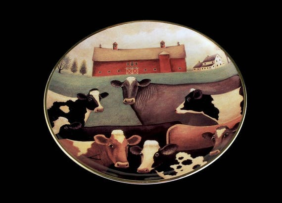 Decorative Plate, The Gathering, Franklin Mint, Lowell Herrero, American Folk Art Collection, Limited Edition, Numbered Plate, Porcelain