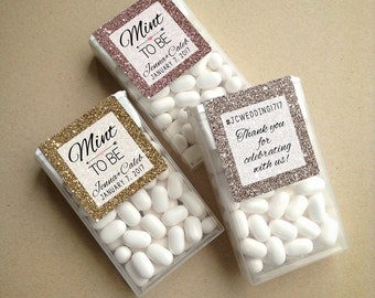 Wraparound Glitter & Sparkle Mint to Be Tic Tac Favor LABELS • Tic Tac Labels • Mint To Be • Mint to Be Favor Labels • Mints • Favors