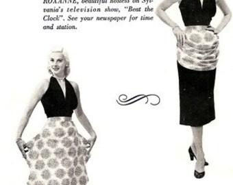 Modes Royale Glorious ROXANNE Hostess Apron 1950's / ONESIZE COMPLETE