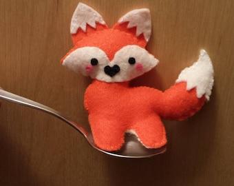 Tiny Stuffed Felt Fox