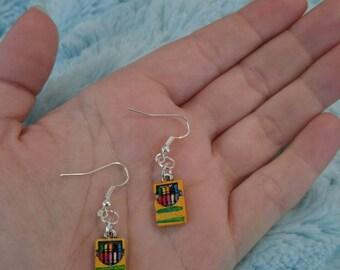 Crayon box earrings