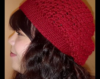 Burgundy Slouchy Hat, Slouch, Beanie, Hats, Crochet Hat, Handmade