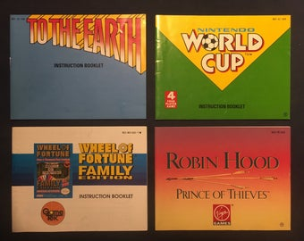 1990's Nintendo NES Video Game Manuals Instruction Booklets