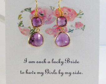 Purple and Gold,Purple Earring,Violet Earring,Purple Jewelry,Violet Earring,Purple Bridesmaid,Violet Bridesmaid,Lavender Bridesmaid,purple