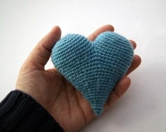 Light blue heart 3d