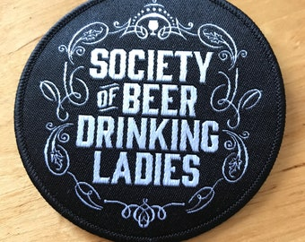 Society of Beer Drinking Ladies Iron-on Patch