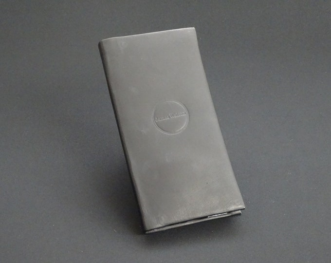 Apple iPhone 8Plus 7Plus 6Plus - Genuine Kangaroo Leather Phone Mobile Protective RFID Holder Case Wallet - Black Tan