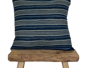 Authentic Vintage Indigo African Mudcloth Pillow Covers