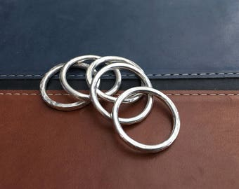 Silver Stackable Rings (5)